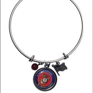 Jewelry - US Marine Charm Bangle
